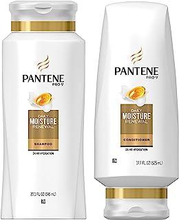 Pantene Pro-V Haircare - Daily Moisture Renewal - Shampoo (20.1 FL OZ) & Conditioner (17.7 FL OZ) Set - One (1) Set
