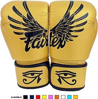 Fairtex Muay Thai Boxing Gloves BGV1 Falcon Gold 14 oz
