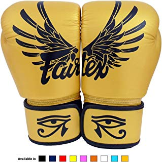 Fairtex Muay Thai boxing gloves BGV1 Falcon Gold 14 oz