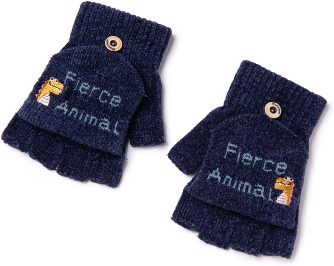 FOLDING Hats Caps Texting Gloves Touch Screen Gloves Stretch Knitting Mechanical Gloves Winter Warm Gloves (Color : Tibetan Blue Color)