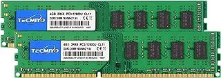 TECMIYO PC3-12800U 4GB, DDR3 Ram 8GB (2x4GB) Desktop (1600MHz, 204 Pin) Non ECC Unbuffered 1.5V CL11 Dual Rank Desktop Memory Ram Module