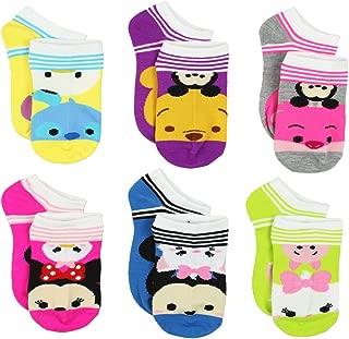 Tsum Tsum Girls Womens 6 pack Socks (Big Kid/Teen/Adult)