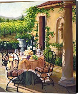 Under The Tuscan Sun by Susan Rios Canvas Art Wall Picture, Museum Wrapped with Black Sides, 19 x 24 inches