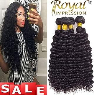 Brazilian Pineapple Deep Wave 4 Bundles 10A Brazilian Virgin Deep Wave Human Hair Bundles 100% Unprocessed Remy Virgin Hair Bundles Natural Color (18