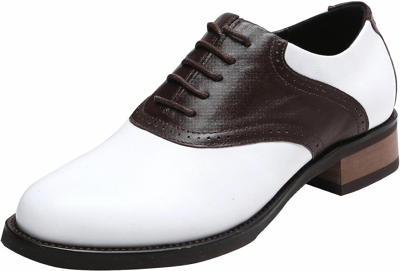 U-lite Women's Classic Saddle Oxford, Leather Sadie shoes