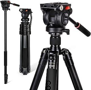Coman Monopié Profesional del Trípode de Vídeo con la Cabeza Flúida Video 360 Para la Videocámara Sony de Nikon Sony y la Aleación de Aluminio de la Cámara Dslr 70.8 pulgadas (KX3939)