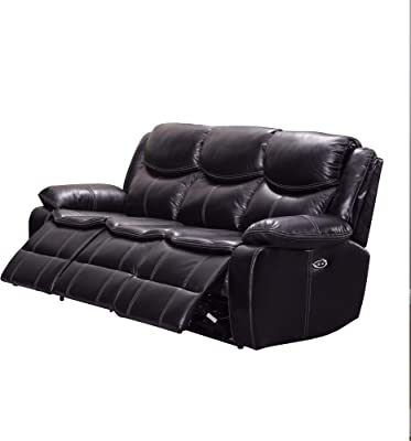 Amazon.com: Lifestyle Solutions Lexington Sofa in Navy Blue ...