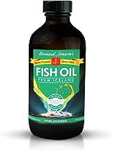 Bernard Jensen Unflavored Liquid Fish Oil 8 Ounces | Excellent Source of Omega-3