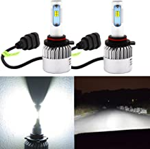 Alla Lighting New CSP Xtremely Bright 9012 HIR2LL LED Headlight Bulbs w/High Power 8000Lm 6500K White Lamps (9012)