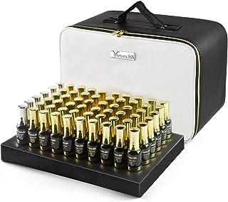 Kit de 120 esmaltes de uñas de gel para manicura profesional VENALISA con base de imprimación de color y capa superior pa...