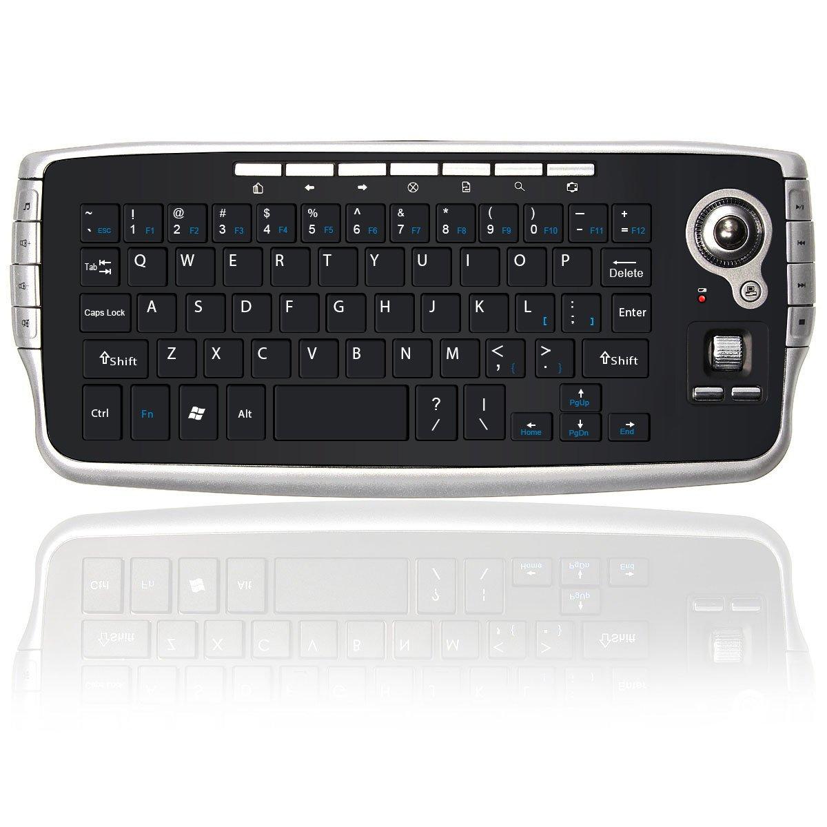 BESTRUNNER Mini Trackball Teclado USB Inalámbrico 2,4 GHz Air Mouse Reino Unido Miniteclado con Touchpad Mini-Teclado para Televisión, TV, X-Box, Ordenador: Amazon.es: Electrónica