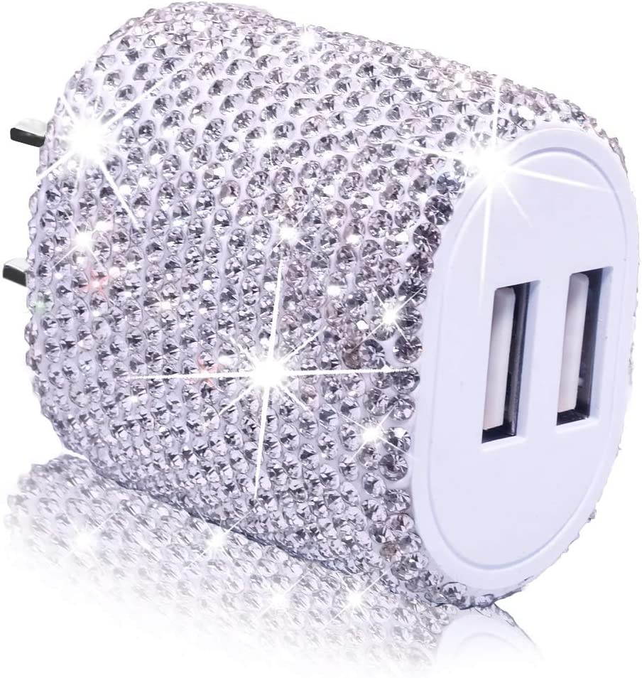 USB Wall All items in the store Charger Bling 5V 2.4A Plug Fast Dual Ranking TOP10 Port 24W C