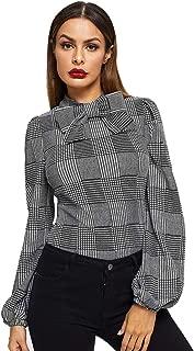 Best printed tie neck blouse Reviews