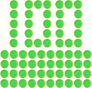 PeleusTech® Disc Refill Set, 100PCS Soft Refill Disc Bullet Darts for Nerf Vortex Blaster Praxis Nitron Vigilon Proton Ammo Revonix Pyragon Zombie Lumitron Diatron - Green