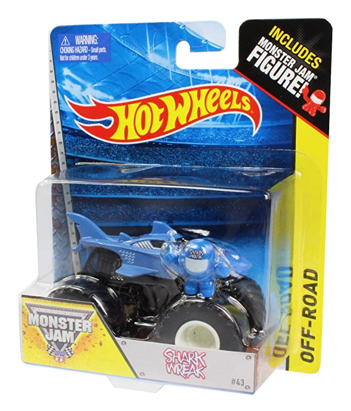 種をまく音楽家落ち着いたHot Wheels Monster Jam 2014 Shark Wreak #43 1:64 Scale Die Cast Vehicle