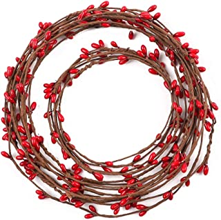 AGEOMET 59 feet Red Pip Berry Garland for Christmas Indoor Outdoor Decorations