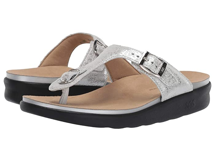 SAS Sanibel (Shiny Silver) Women's Shoes