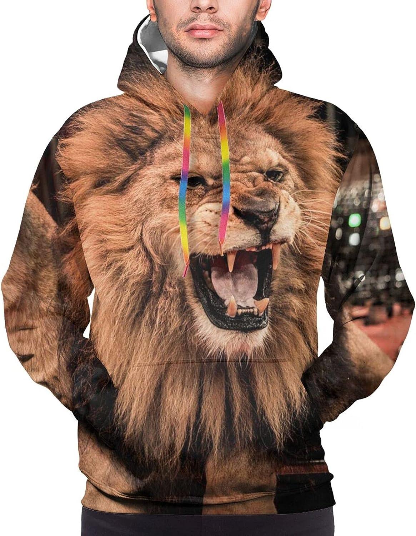 Hoodie For Teens Boys Girls Angry Lion Hoodies Fashion Sweatshirt Drawstring