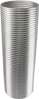 Awoco 8 inches Diameter x 6 feet Long Semi-Rigid Flexible Aluminum Duct - Ideal for Kitchen, Bathroom, Range Hood Venting (8