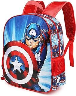 Capitán América First - Mochila 3D (Pequeña), Multicolor