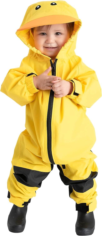 Kids Toddler Tulsa Mall Rain Suit - Muddy Max 46% OFF Pie Waterproof One Coverall Buddy