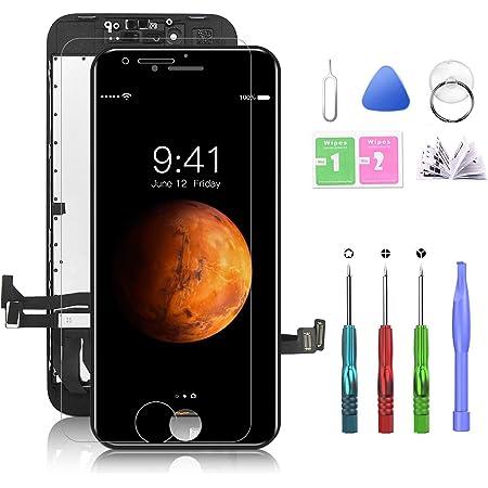 Htechy Ersatz Für Iphone 8 Display Schwarz Komplett Retina Display Lcd Touchscreen Bildschirm Mit Displayschutz Aufgerüstetes Reparaturset Und Reparaturanleitung 4 7 Zoll Elektronik