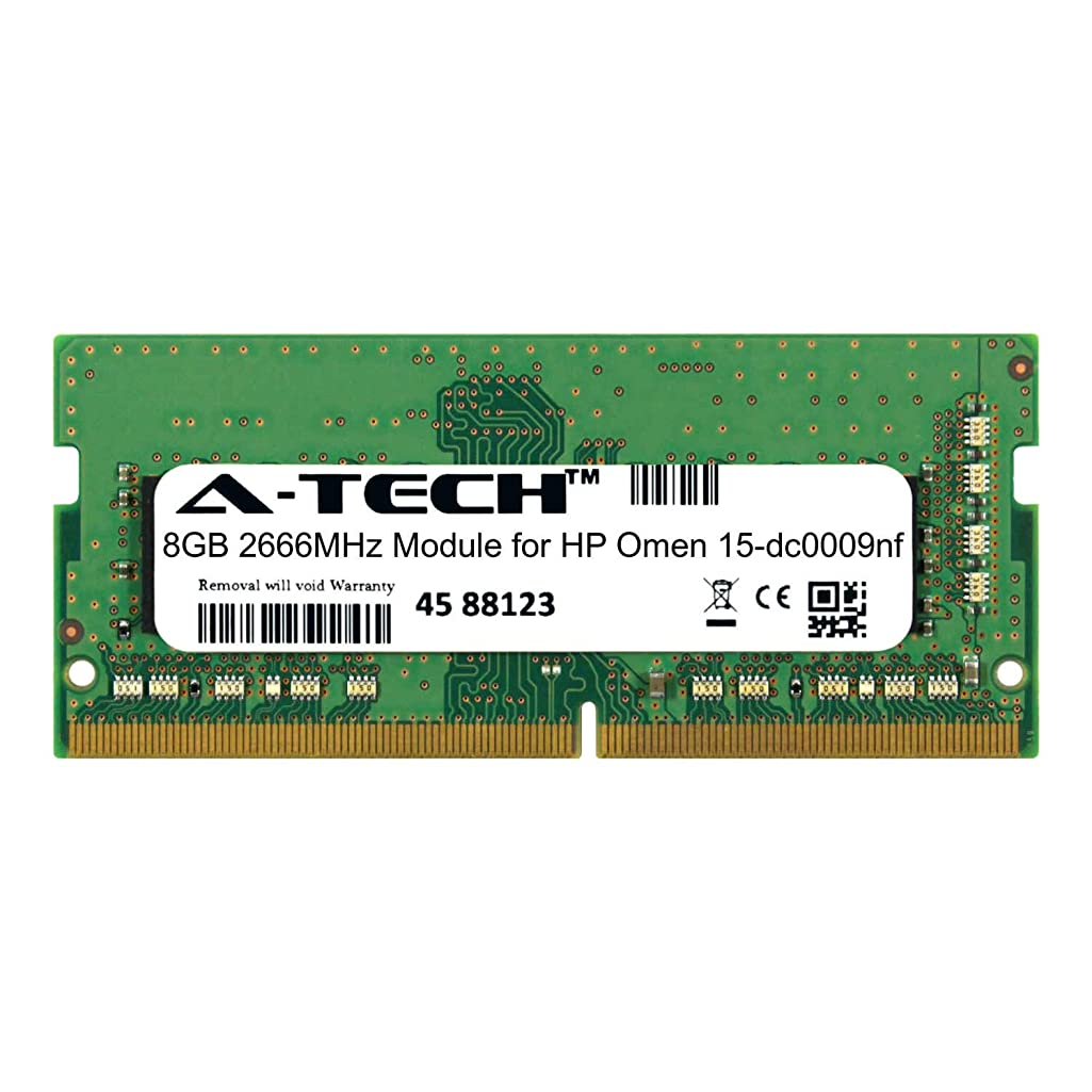 A-Tech 8GB Module for HP Omen 15-dc0009nf Laptop & Notebook Compatible DDR4 2666Mhz Memory Ram (ATMS280520A25978X1)