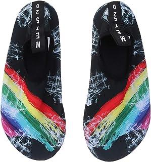 LIOOBO, Zapatos de agua de playa para niños de secado rápido Verano suave antideslizante, natación, surf, buceo, calcetines, zapatillas de deporte para niños (Rainbow Sail 36/37)