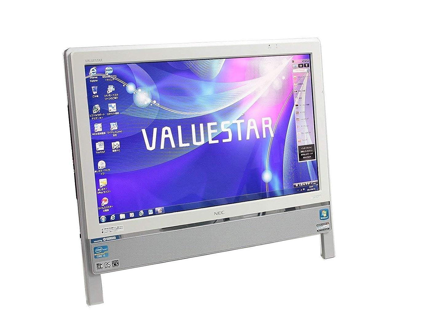 バリーファンシー受け入れ[ WPS Office/地デジ ] NEC VALUESTAR VN770/C (ホワイト) Windows7 20インチ Core i5 M460 2.53GHz メモリ4GB HDD1TB [ ブルーレイ/無線LAN ]