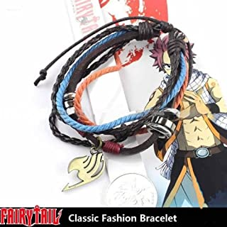 Cosplay Anime Fairy Tail Lucy Natsu Dragneel Guild Sign Metal Wrist Bracelet