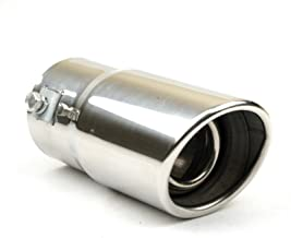 Exhaust tip - To Fit 1.5 to 2 Inch Exhaust tail Pipe Diameter- Stainless Steel to give chrome effect - Car Muffler tips