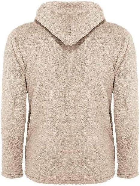 Men/'s Teddy Bear Fluffy Fleece Cardigan Winter Warm Hooded Jackets Hoodie Coats