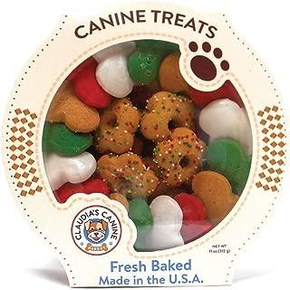 Claudia's Canine Gourmet Christmas Dog Treats - 11 Oz. Tub (Party Bone Wreath)