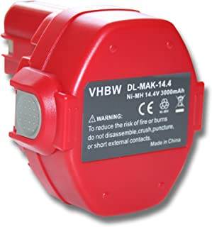 vhbw Ni-MH Batteria 3000mAh (14.4V) per Utensile Viega Picco, PT3-AH come Makita 1420, 1422, 1422 192600-1, 192600-1.