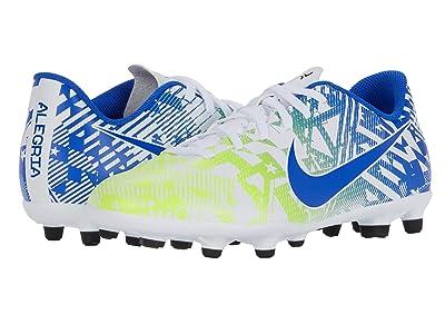 Nike Kids Jr Vapor 13 Club NJR FG/MG (Little Kid/Big Kid) (White/Racer Blue/Volt/Black) Kids Shoes