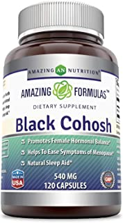 Amazing Formulas Black Cohosh, 540mg Supplement with Pure Root Extract All Natural Support for Womens Health and Well-Bein...