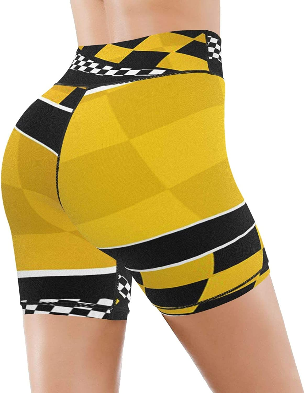 PEKIVIDE 2021 Black Yellow Challenge the lowest price of Japan ☆ 25% OFF Checkered High B Indiana Waisted Race