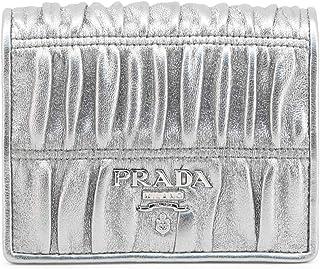 Prada Women's 1MV204_2B25_GAUFRE Wallet Grey