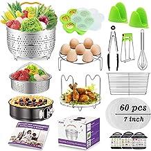 Accessories for Instant Pot, Accessories Compatible with 6,8 qt Instant Pot, Ninja Foodi 8 qt - 2 Steamer Baskets, Springf...