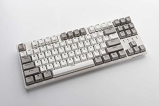 Durgod Taurus K320 TKL Mechanical Gaming Keyboard - 87 Keys - Double Shot PBT - NKRO - USB Type C (Cherry Silent Red, Whit...