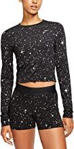 Nike Women's Pro Warm Starry Night Metallic-Print Top, Black XL