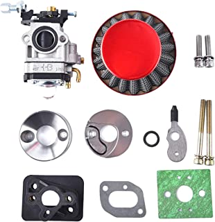 15mm Carburetor Upgrade Kit Air Filter Set Compatible with 2 Stroke 43cc 47cc 49cc Standup Gas Scooter ATV Quad Pocket Bike X-TREME XG-550 BladeZ Moby X