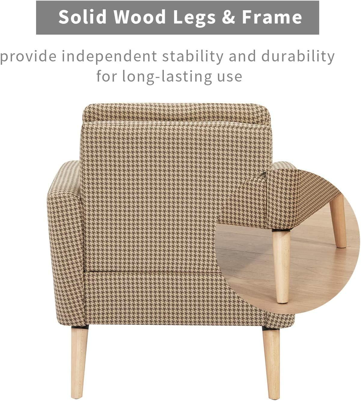 Accent Chair lauraland Capacity Weight ups to 350 lbs Solid Wood Legs and High-Density Foam Unique Prints and Durable Fabric