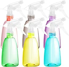 Youngever 6 Pack Empty Plastic Spray Bottles, Spray Bottles for Hair and Cleaning Solutions in 6 Colors (12 Ounce)