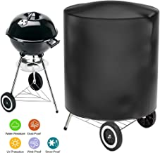 AKL Waterproof BBQ Grill Cover for Weber Charcoal Kettle Heavy Duty 210D Oxford Fabric UV Dust Water Resistant, Rip Resistant