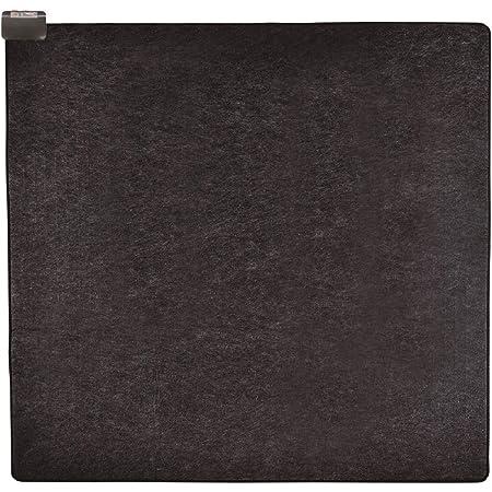 [山善] 省エネ ふわふわ ホットカーペット 2畳タイプ (室温センサー搭載) (6時間オートオフタイマー) (ダニ退治機能) (左右暖房面切替) (裏面すべり止め加工) (176cm×176cm) ブラック NUMF-E205 NUMF-E205 [メーカー保証1年]