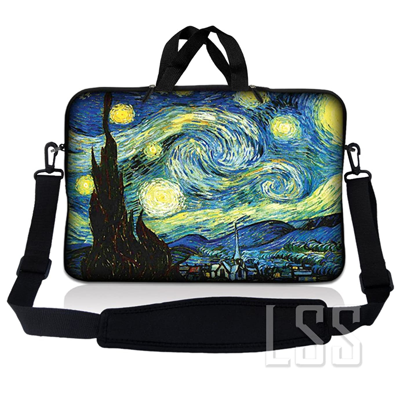 LSS Neoprene Laptop Tablet Sleeve w/ Handle & Adjustable Shoulder Strap Fits Apple Ipad 1 Ipad 2 Ipad 3/Kindle Fire / Samsung Galaxy Tablet / Asus Eee Pad / Acer Iconia Tab /Acer Aspire one/Dell inspiron mini/Samsung N145/Toshiba/Kindle DX/Lenovo S205/HP Touchpad Mini 210 11