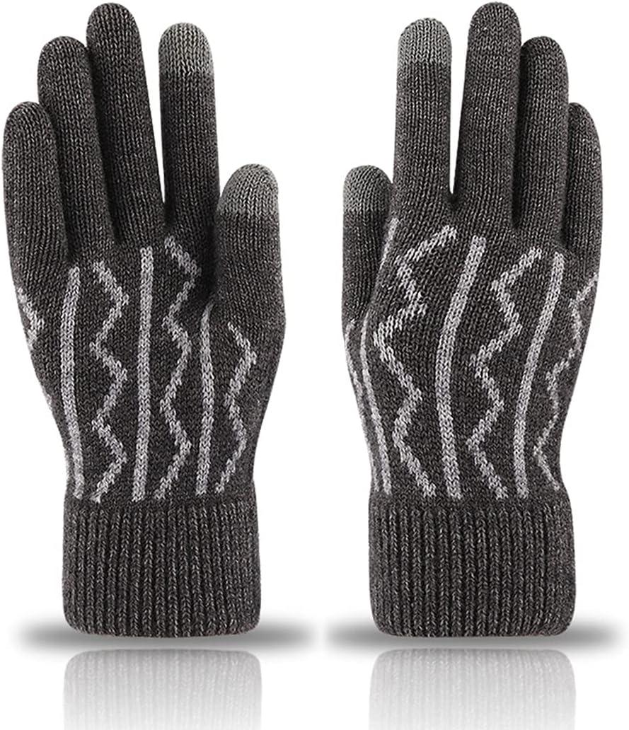 Licogel Men Warm Gloves Thickened Non-Slip Soft Gloves Touchscreen Gloves Winter Gloves Diving Travel Lightweight Cold