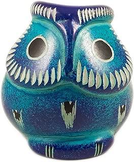 Maisha Fair Trade Hand Carved Decorative Turquoise Soapstone Owl Bird