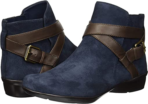 Navy/Brown Suede/Leather